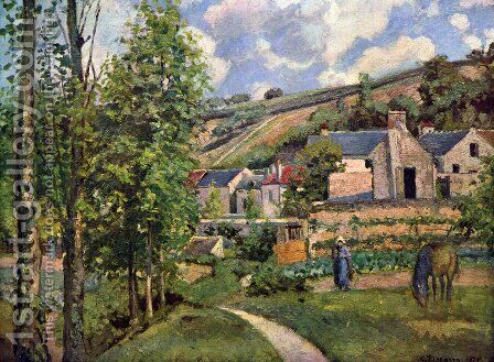 Landscape in Pontoise by Camille Pissarro - Reproduction Oil Painting