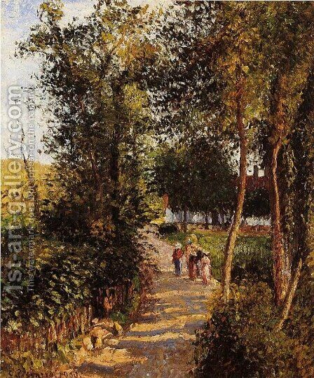 Maison Thievain by Camille Pissarro - Reproduction Oil Painting