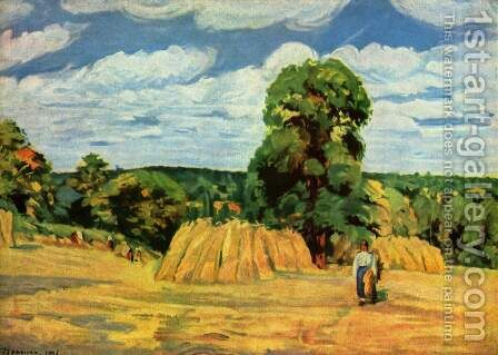 Moisson by Camille Pissarro - Reproduction Oil Painting