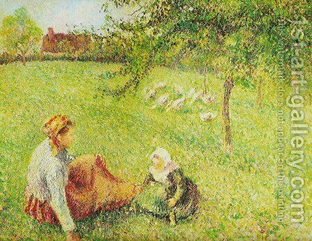 oak guardians by Camille Pissarro - Reproduction Oil Painting