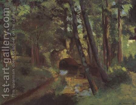 Small bridge of Pontoise by Camille Pissarro - Reproduction Oil Painting