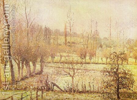 Snow landscape at Eragny by Camille Pissarro - Reproduction Oil Painting