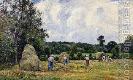 The Harvest at Montfoucault 2 by Camille Pissarro - Reproduction Oil Painting