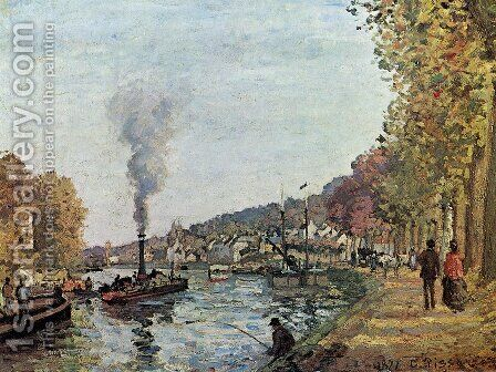 The Seine at Marly 1 by Camille Pissarro - Reproduction Oil Painting
