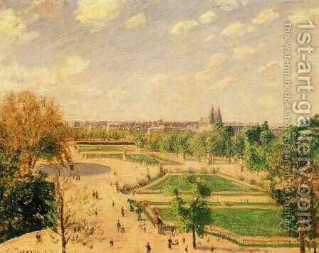The Tuileries Gardens 2 by Camille Pissarro - Reproduction Oil Painting