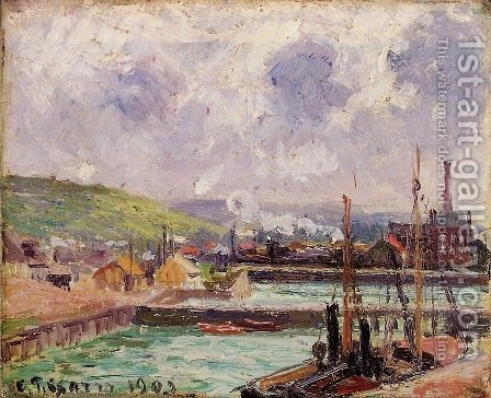 View of Dunquesne and Berrigny Basins in Dieppe by Camille Pissarro - Reproduction Oil Painting