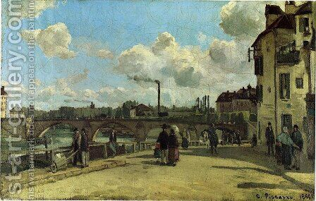 View of Pontoise 2 by Camille Pissarro - Reproduction Oil Painting