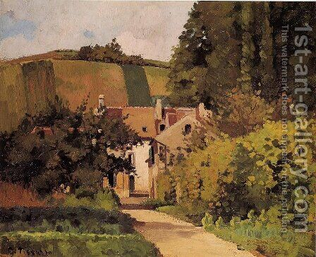 Village Street, Pontoise by Camille Pissarro - Reproduction Oil Painting