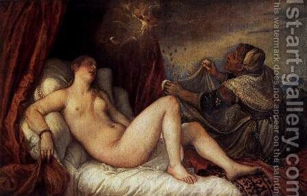 Danaë 2 by Tiziano Vecellio (Titian) - Reproduction Oil Painting