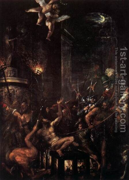 Martyrdom of St Lawrence by Tiziano Vecellio (Titian) - Reproduction Oil Painting