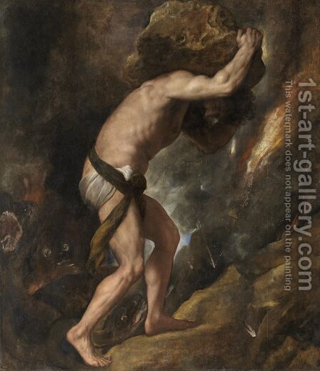 Sisyphus by Tiziano Vecellio (Titian) - Reproduction Oil Painting
