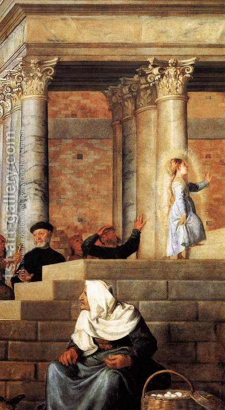 Presentation of the Virgin at the Temple (detail 4) by Tiziano Vecellio (Titian) - Reproduction Oil Painting