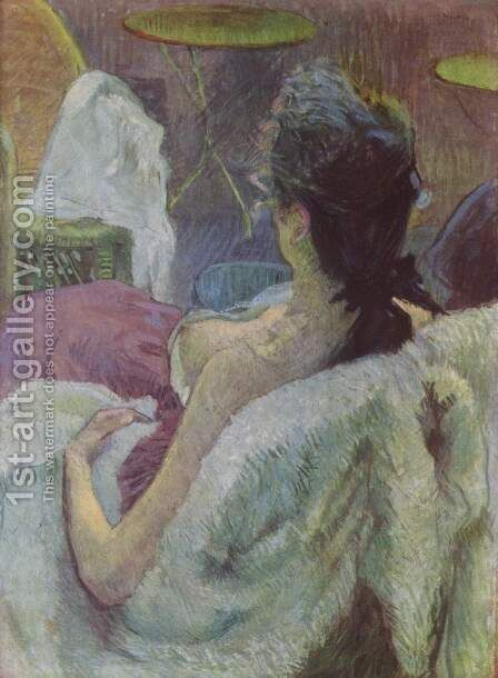 A seated woman by Toulouse-Lautrec - Reproduction Oil Painting