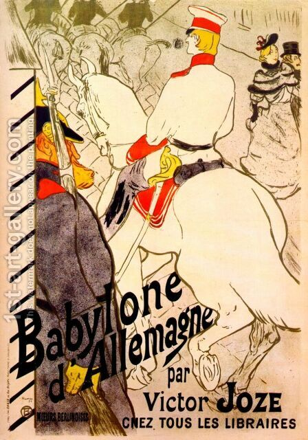 babylone d'allemagne by Toulouse-Lautrec - Reproduction Oil Painting