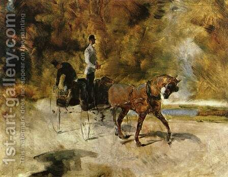 Horse-Car (single) by Toulouse-Lautrec - Reproduction Oil Painting