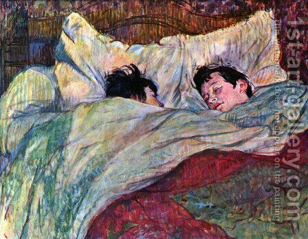 In Bed 2 by Toulouse-Lautrec - Reproduction Oil Painting