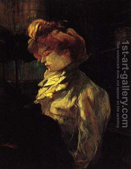 La Modiste, Mademoiselle Margouin (Die Modistin Frl. Margouin) by Toulouse-Lautrec - Reproduction Oil Painting