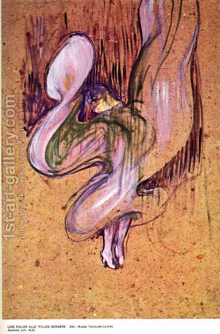 Loïe Fuller in the 'Folies Bergere' by Toulouse-Lautrec - Reproduction Oil Painting