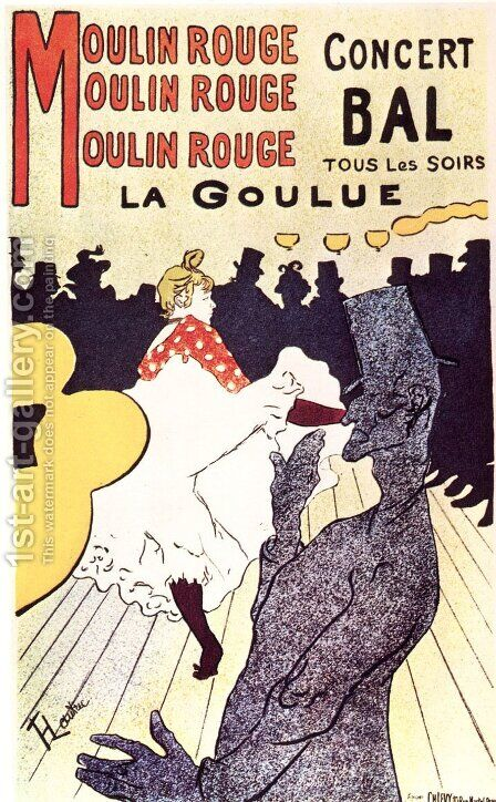 Moulin Rouge, the goulue by Toulouse-Lautrec - Reproduction Oil Painting