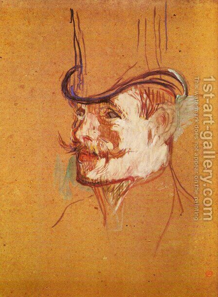 Mr Warner by Toulouse-Lautrec - Reproduction Oil Painting