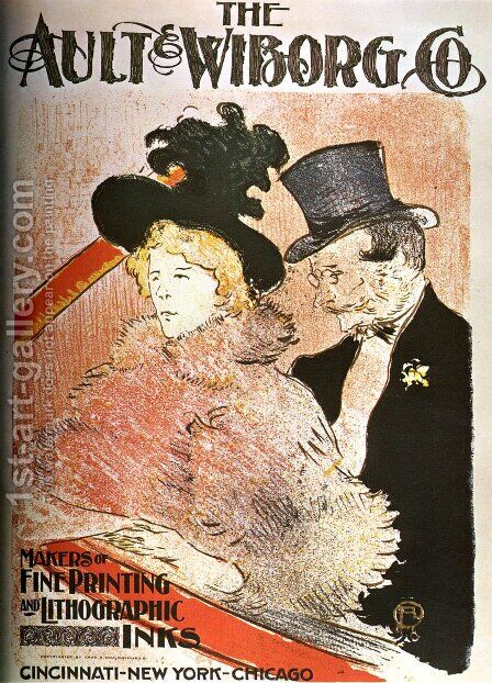 The Ault Wiborg by Toulouse-Lautrec - Reproduction Oil Painting