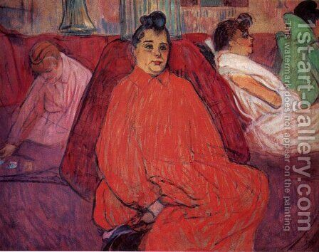 The sofa 2 by Toulouse-Lautrec - Reproduction Oil Painting