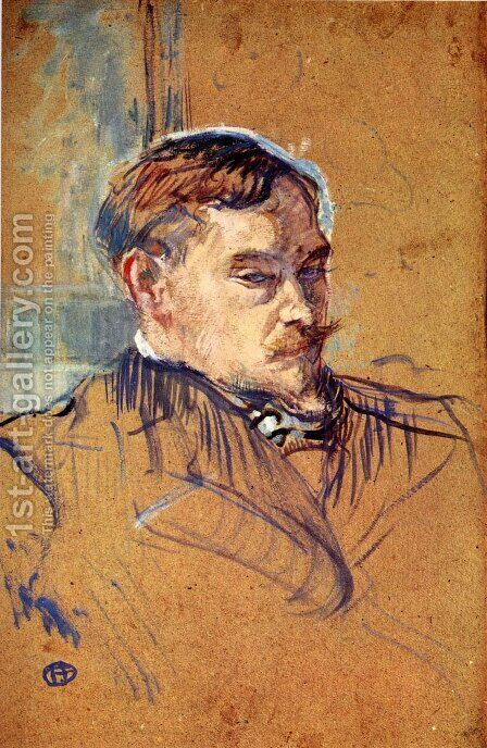 The writer Romain Coolus by Toulouse-Lautrec - Reproduction Oil Painting