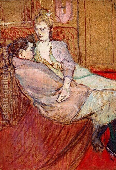Two Friends 1 by Toulouse-Lautrec - Reproduction Oil Painting
