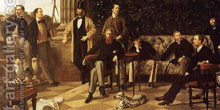 The Circle of the Rue Royale (detail) by James Jacques Joseph Tissot - Reproduction Oil Painting