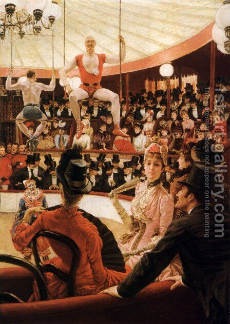 Women of Paris, The Circus Lover by James Jacques Joseph Tissot - Reproduction Oil Painting
