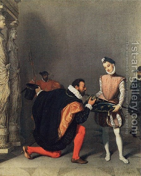 Don Pedro de Tolède baisant l'épée d'Henri IV by Jean Auguste Dominique Ingres - Reproduction Oil Painting