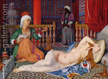 Odaliske und Sklavin 2 by Jean Auguste Dominique Ingres - Reproduction Oil Painting