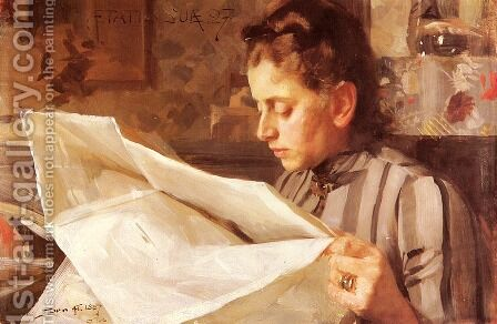 Emma Zorn, Lasande by Anders Zorn - Reproduction Oil Painting