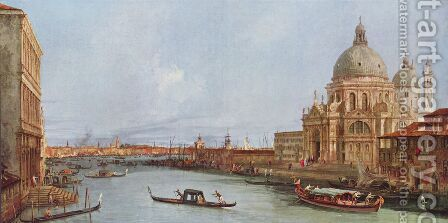 Sight of  St Mark's by (Giovanni Antonio Canal) Canaletto - Reproduction Oil Painting