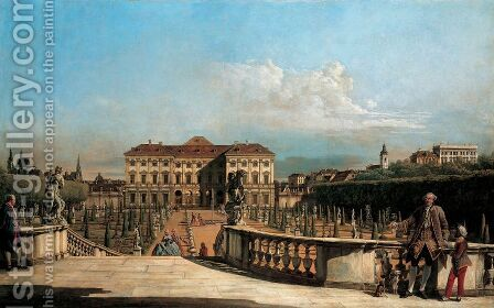 The Liechtenstein Garden Palace, garden by (Giovanni Antonio Canal) Canaletto - Reproduction Oil Painting