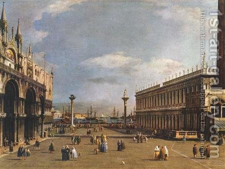 The Piazzetta 2 by (Giovanni Antonio Canal) Canaletto - Reproduction Oil Painting