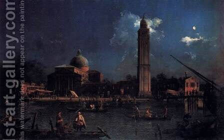 The Vigilia di San Pietro by (Giovanni Antonio Canal) Canaletto - Reproduction Oil Painting