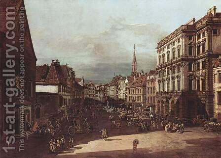 View from Vienna, flour market, Northeast seen by (Giovanni Antonio Canal) Canaletto - Reproduction Oil Painting