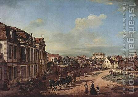 View from Warsaw Castle, Tor-Platz, seen from the west by (Giovanni Antonio Canal) Canaletto - Reproduction Oil Painting