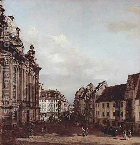 View of Dresden, the Frauenkirche by (Giovanni Antonio Canal) Canaletto - Reproduction Oil Painting