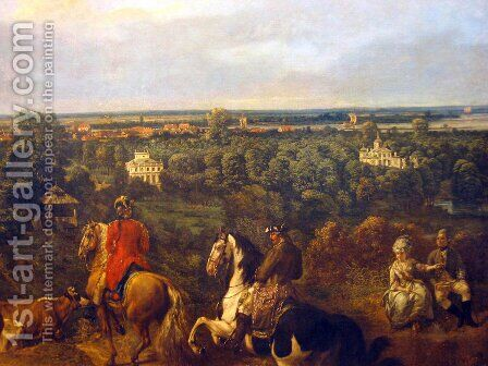 view on Lazienki in Warsaw by (Giovanni Antonio Canal) Canaletto - Reproduction Oil Painting