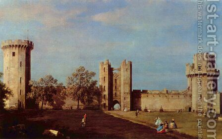 Warwick Castle 2 by (Giovanni Antonio Canal) Canaletto - Reproduction Oil Painting