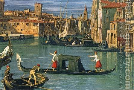The Grand Canal and the Church of the Salute (detail) by (Giovanni Antonio Canal) Canaletto - Reproduction Oil Painting