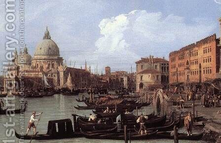 The Molo, Looking West (detail) by (Giovanni Antonio Canal) Canaletto - Reproduction Oil Painting