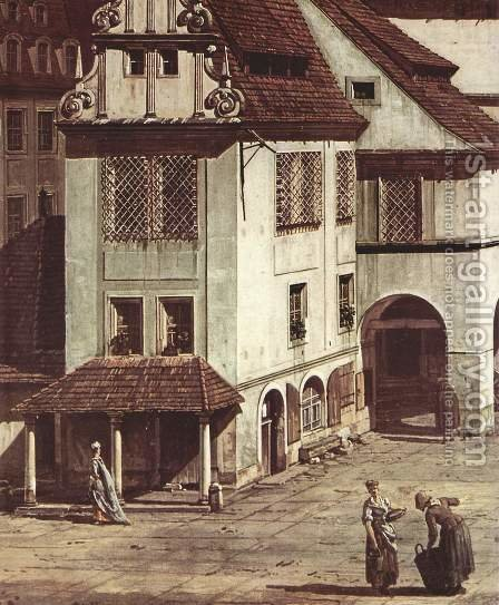 View from Pirna, the market square in Pirna, detail by (Giovanni Antonio Canal) Canaletto - Reproduction Oil Painting