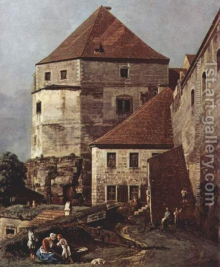 View from Pirna, the sun-stone fortress, Detail by (Giovanni Antonio Canal) Canaletto - Reproduction Oil Painting