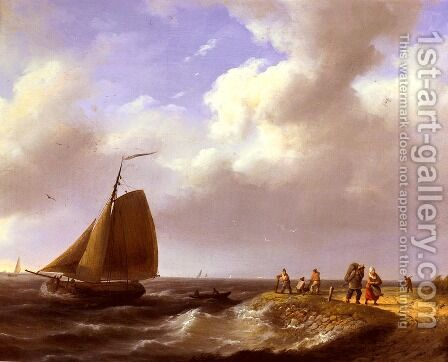 A Fresh Breeze off the Dutch Coast by Hermanus Jr. Koekkoek - Reproduction Oil Painting