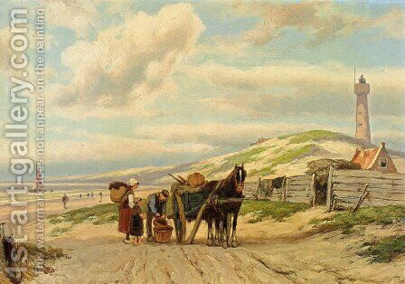 Returning Home by Hermanus Jr. Koekkoek - Reproduction Oil Painting