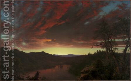 Twilight in the Wilderness by Frederic Edwin Church - Reproduction Oil Painting