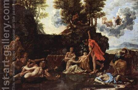 The birth of Baccus by Nicolas Poussin - Reproduction Oil Painting